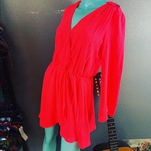 Gianni Bini Neon Hot Pink Dress! Trending big time